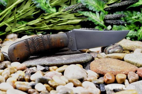 Winkler Knives II - Belt Knife, Caswell/Maple w/Tribal Markings