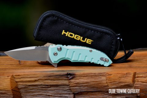 Hogue Knives X1-Micro Manual - Matte Aqua Blue ~ 24173