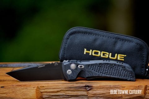 Hogue Knives EX-A01 G-10 G-Mascus Black ~ 34109