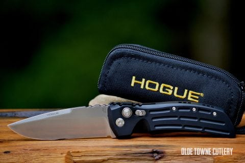 Hogue Knives EX-A01 Matte Black Aluminum ~ 34116