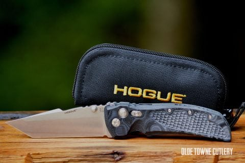 Hogue Knives EX-01 G10 G-Mascus Black ~ 34149 LIM