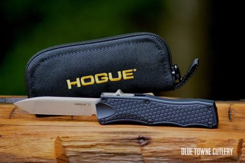 Hogue Knives OTF Matte Black Aluminum ~ 34000