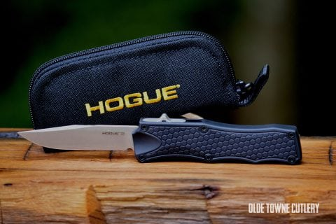 Hogue Knives OTF Matte Black Aluminum ~ 34010