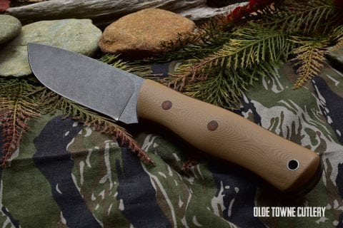 Alfa Knife AK-1 Desert Tan G10 Black/Natural