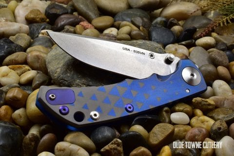 Spartan-Harsey Folder/Stone Washed Anodized