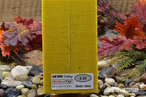 "Burlatex Canary Yellow 1/4"" x 1 3/4"" x 6"""