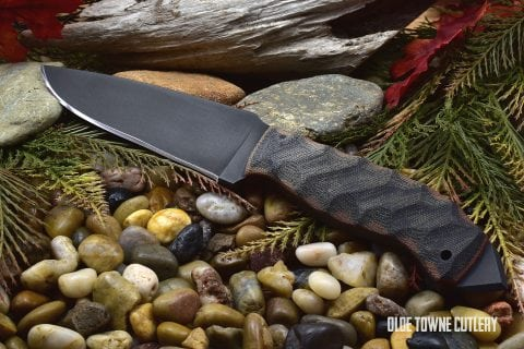 Winkler Knives Spike Sculpted Black/Tan Micarta