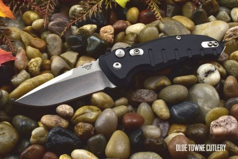 Hogue Knives 24110 A01 Microswitch Matte Black