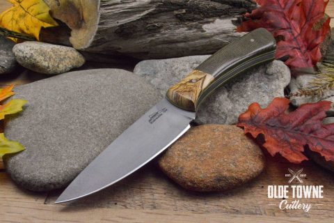 Jaimoe Knives J3 Green Canvas Micarta (C)