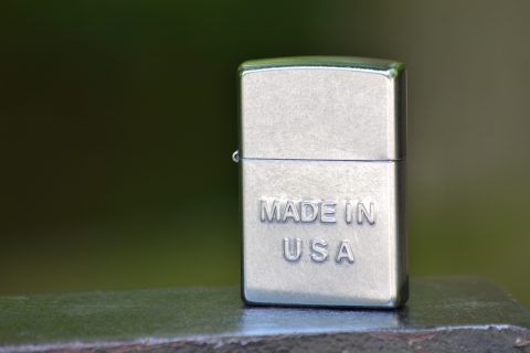 Zippo ZO28481 Made in USA Matte Chrome