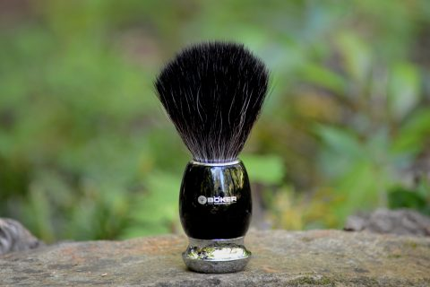 Boker 04BO125 Black Fiber Shaving Brush
