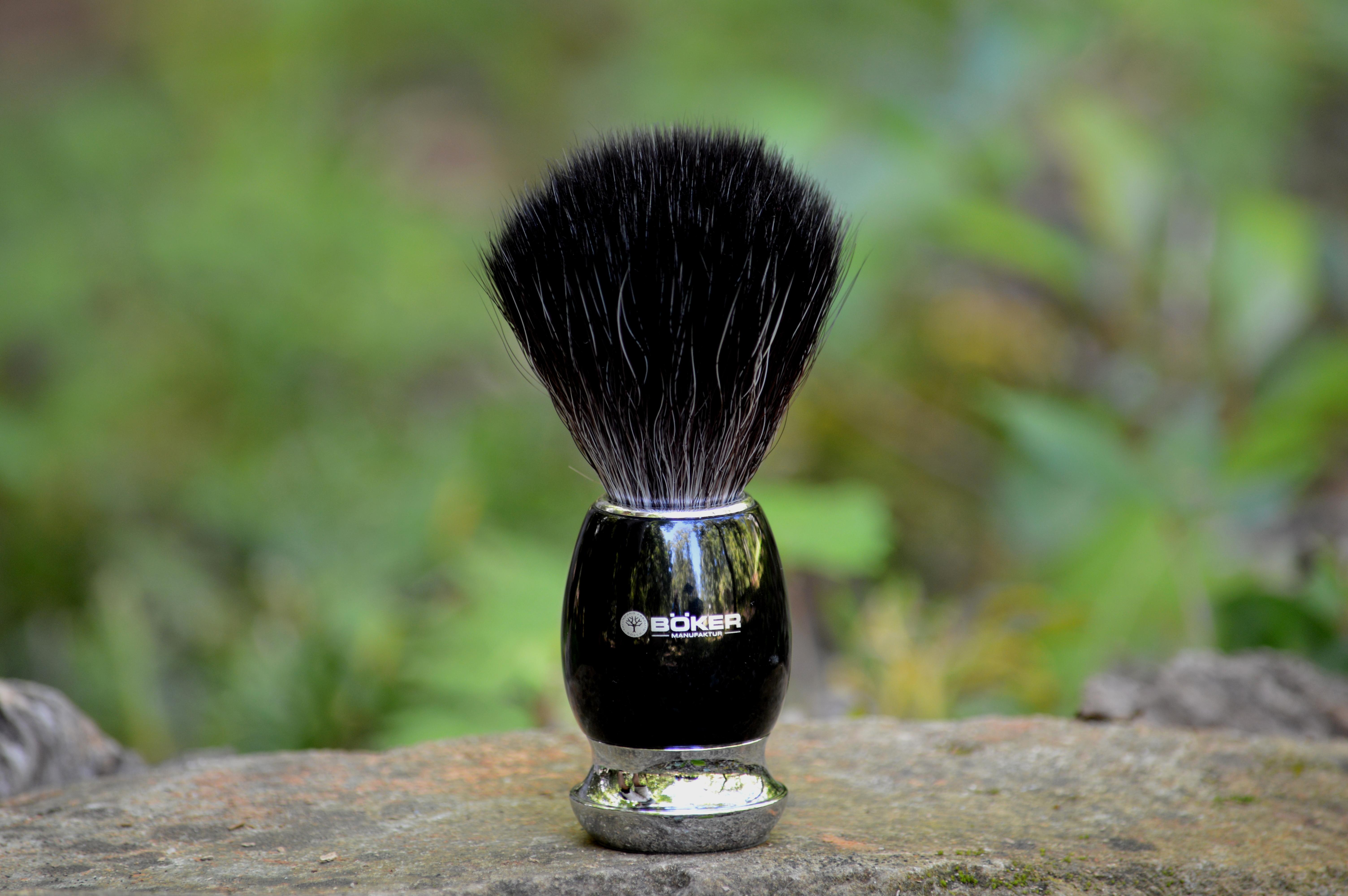 Boker 04BO125 Black Fiber Shaving Brush