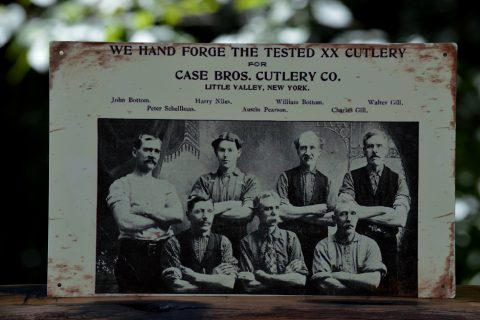 W.R. Case & Sons Tin Sign - Hand Forge