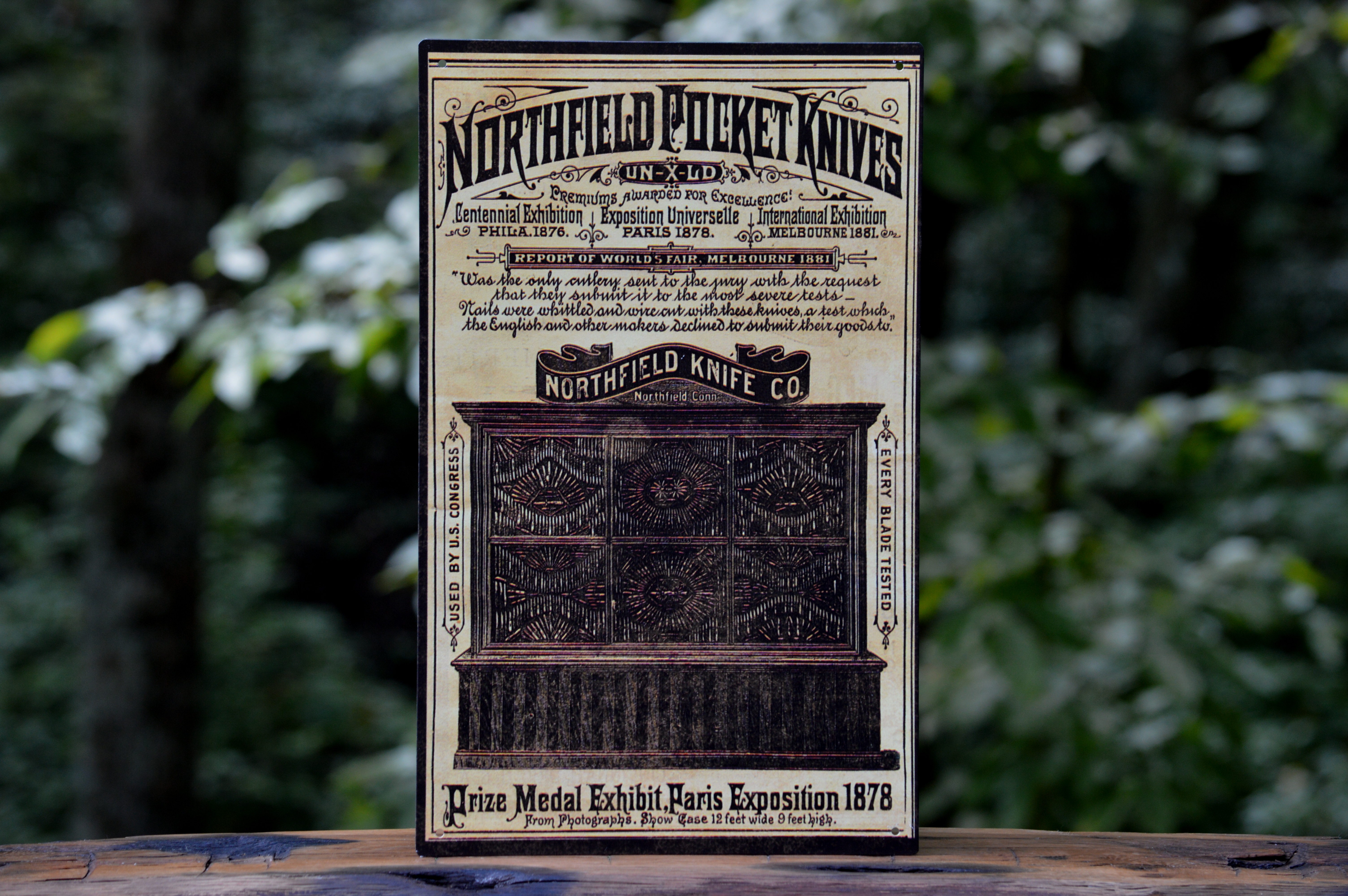 Northfield Pocket Knives Vintage Tin Sign
