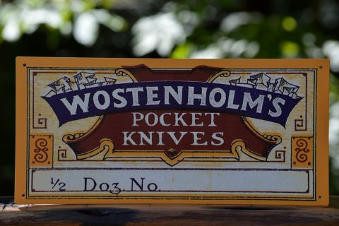 Wostenholm Pocket Knives Tin Sign
