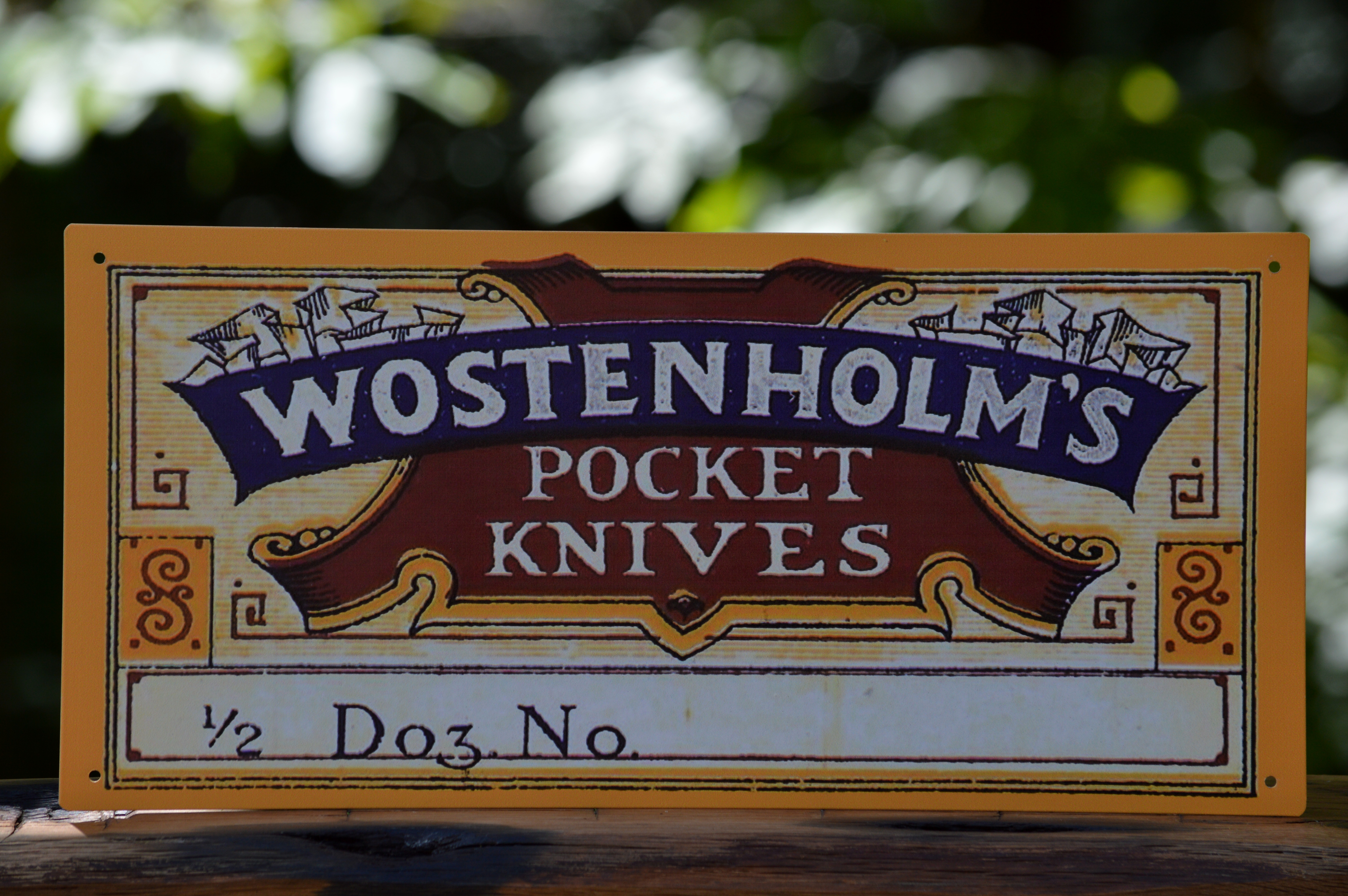 Wostenholm Pocket Knives Vintage Tin Sign