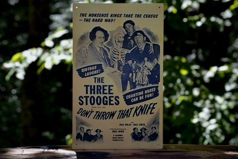 The Three Stooges Knives Tin Sign