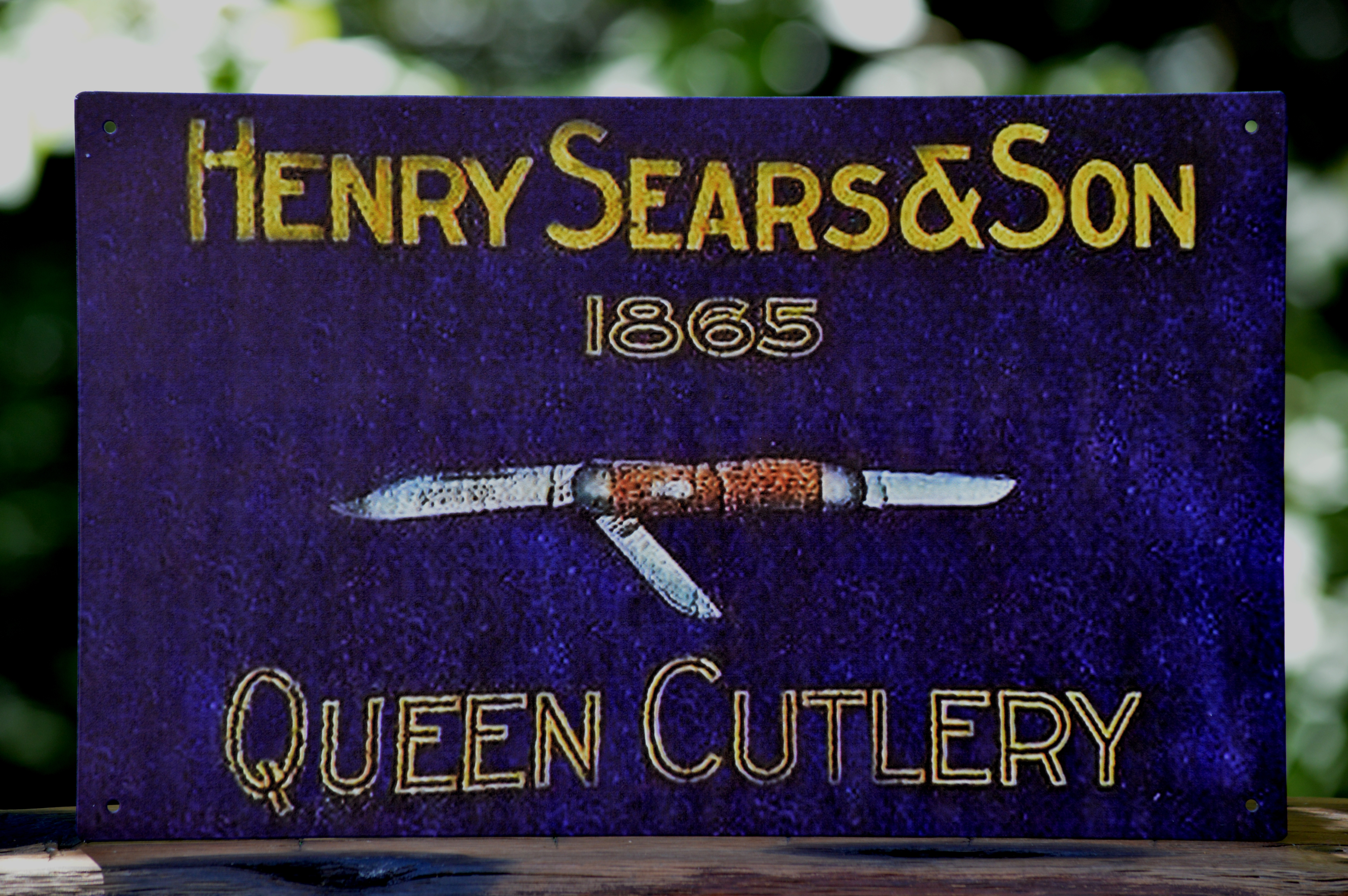 Henry Sears & Son Vintage Advertising Tin Sign