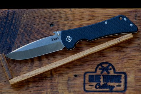 Southern Grind Bad Monkey Emerson - Tumbled Satin, Twill-Weave Carbon Fiber, Drop Point