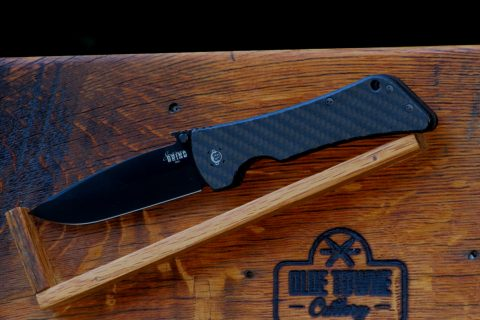 Southern Grind Bad Monkey Emerson - PVD Black Blade, Twill-Weave Carbon Fiber, Drop Point