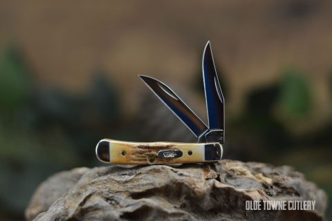 W.R. Case & Sons Tiny Trapper Burnt Prime Stag