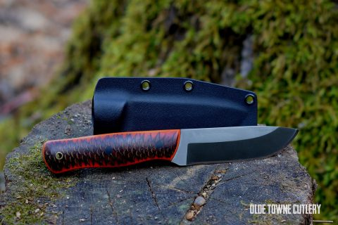 Alfa Knife Bushcraft Orange Dragon Skin