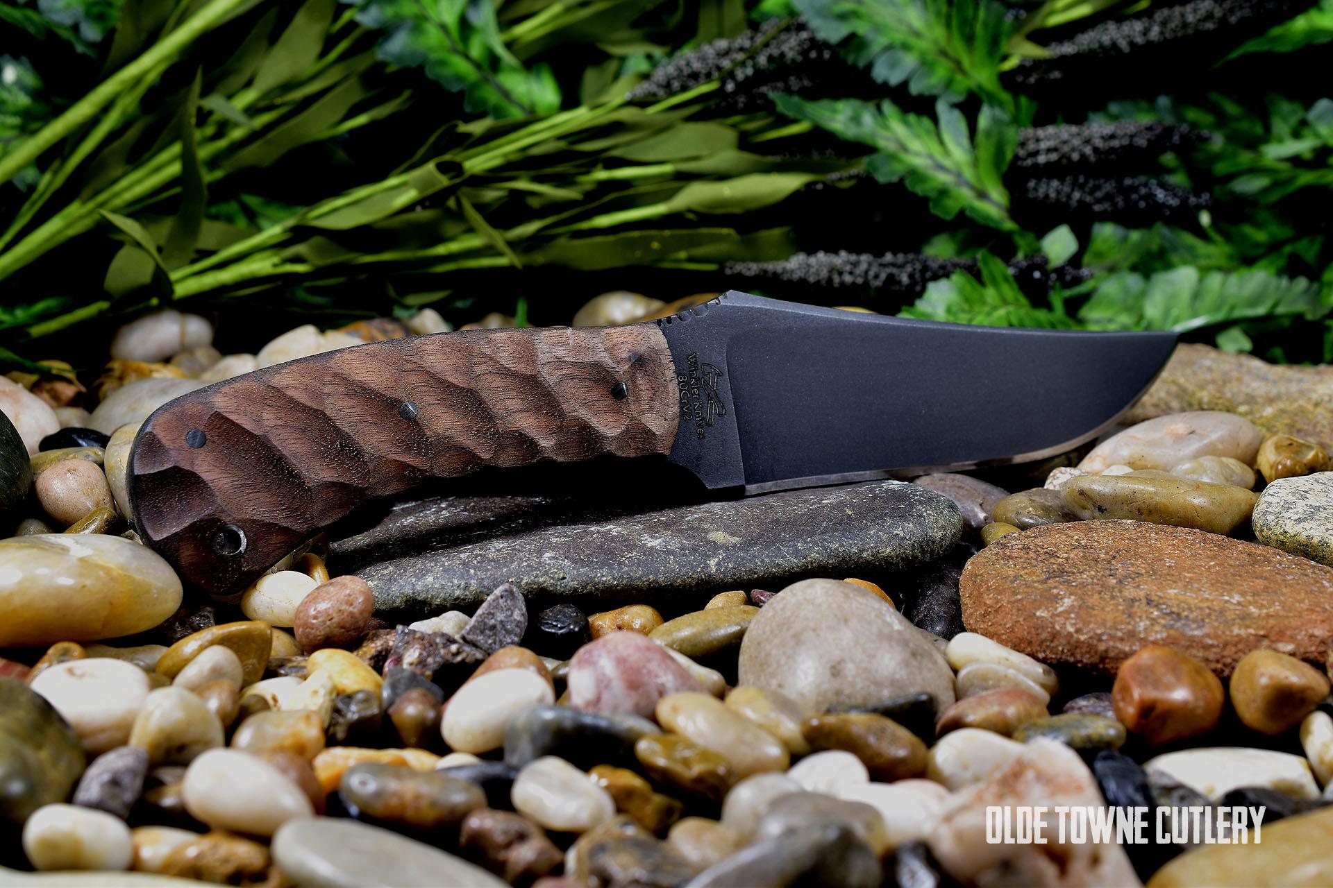Winkler Knives II Belt Knife Sculpted Walnut