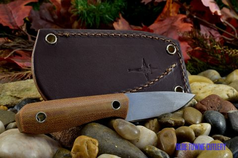 Cumming Bladeworks Utility - Natural Canvas Micarta