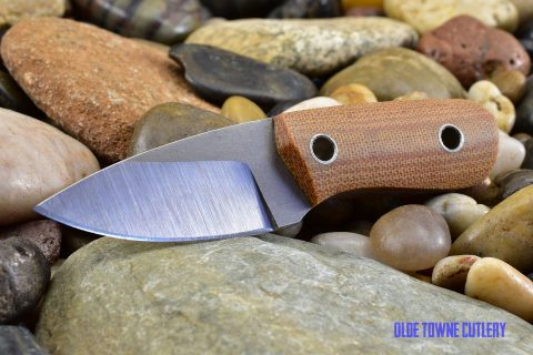 Cumming Bladeworks Necker - Natural Canvas Micarta