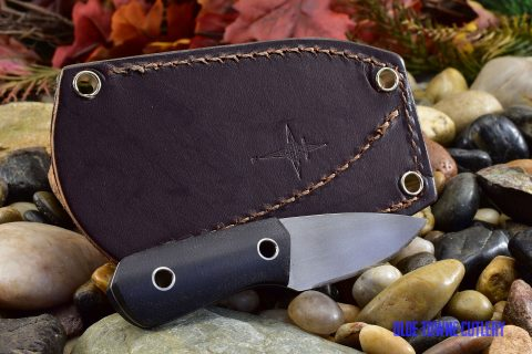 Cumming Bladeworks Necker - Black Canvas Micarta