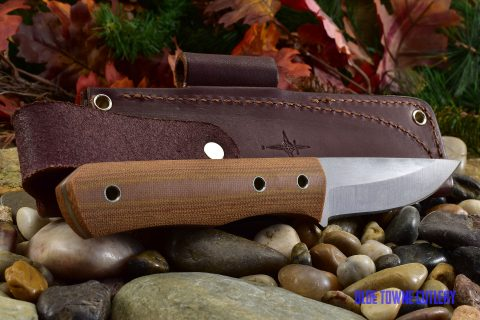 Cumming Bladeworks Bushmaster - Natural Canvas Micarta