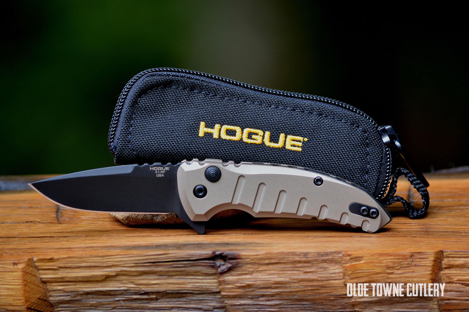 Hogue Knives 24177 X1 Micro Manual Matte Flat Dark Earth Knives