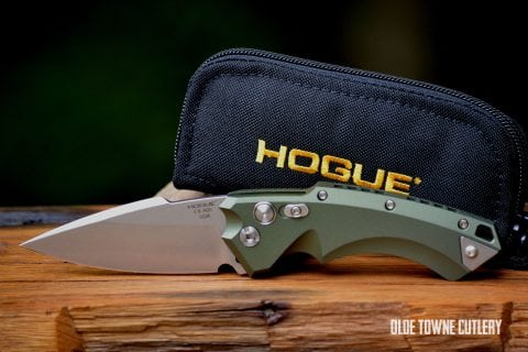Hogue Knives 34531 EX-A05 OD Green Aluminum