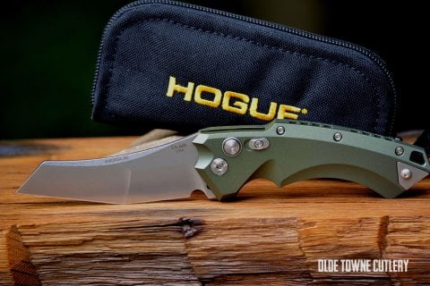 Hogue Knives 34521 EX-A05 OD Green Aluminum