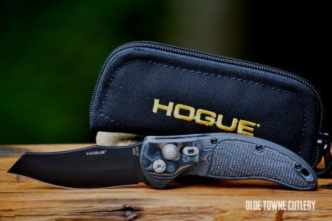 "Hogue Knives EX-A04 - G10 G-Mascus Black/Grey, Wharncliffe 3.5"" ~ 34429"