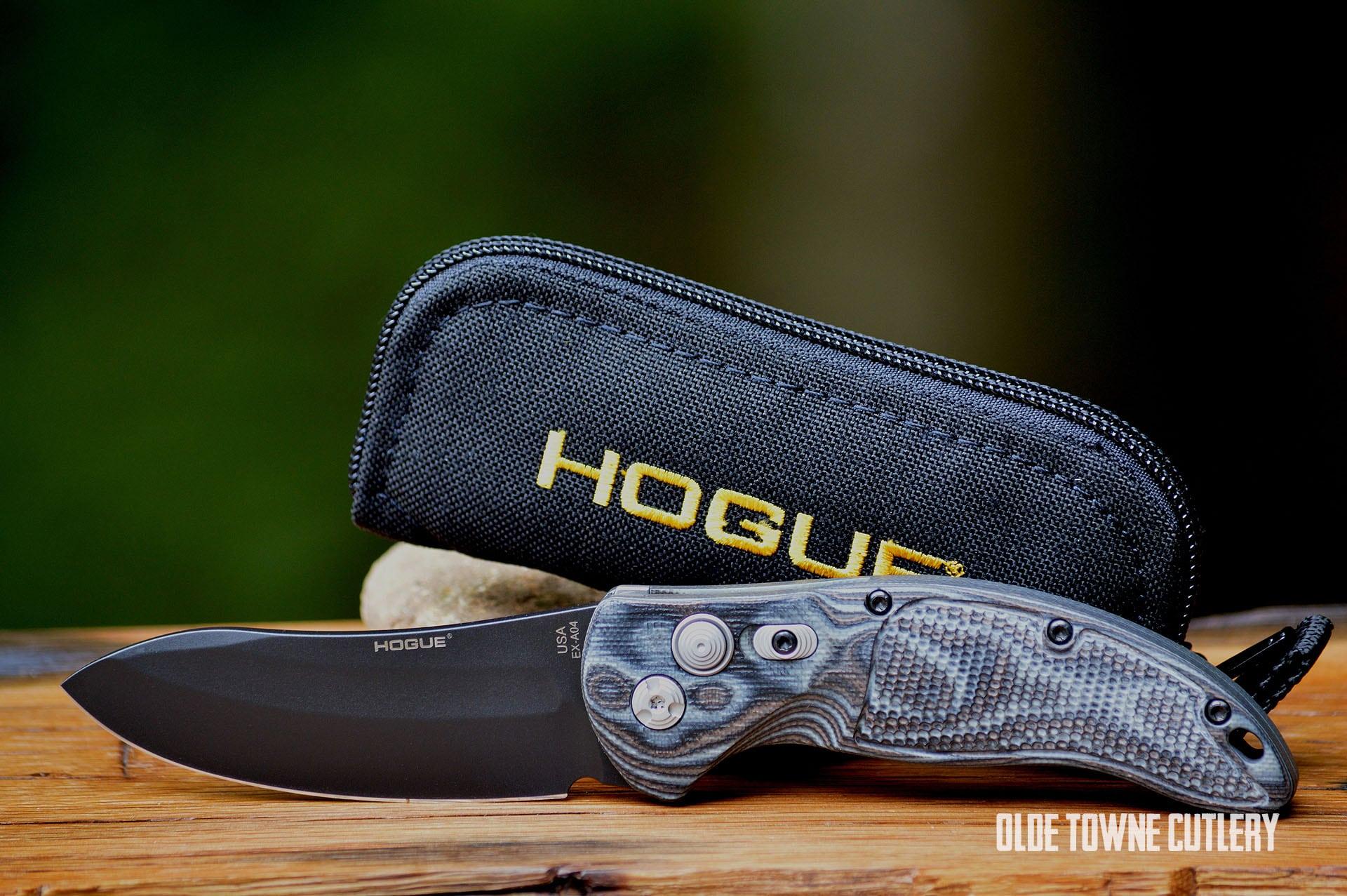 Hogue Knives 34439 EX-A04 G10 G-Mascus Black/Grey