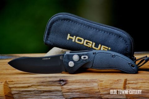 "Hogue Knives EX-A04 - Black Cerakote Finish, G10 Solid Black, Upswept 3.5"" ~ 34430"