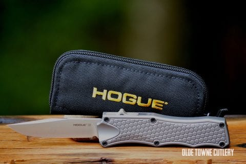 Hogue Knives 34012 OTF Matte Grey Aluminum