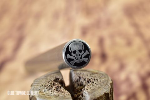 "Balatsky Mosaic Pin - Skull and Crossbones 3/8"" x 3"""