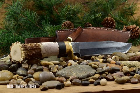 Southern Longbeards Elk Handle Bowie (C)