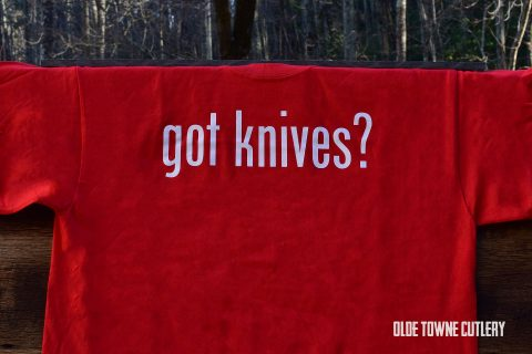 Olde Towne Cutlery Got Knives? T-Shirt Red/2X