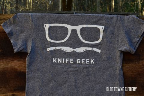 Olde Towne Cutlery Knife Geek T-Shirt Grey/Youth Med