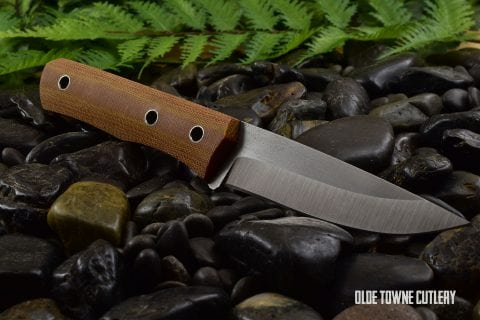 Cumming Bladeworks Trailmaster - Natural Canvas Micarta