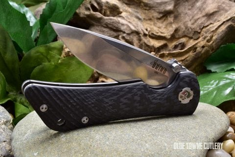 Southern Grind Spider Monkey - Tumbled Satin, Carbon Fiber, Drop Point