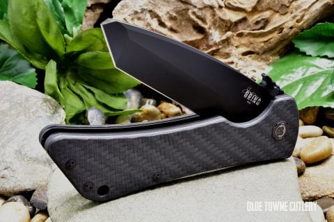 Southern Grind Bad Monkey Emerson - PVD Black Blade, Twill-Weave Carbon Fiber, Tanto
