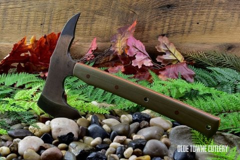 Alfa Knife Tomahawk - Green Micarta/Orange