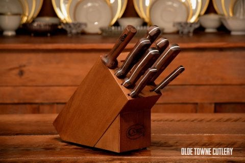 W.R. Case & Sons 9-pc Walnut Block Set
