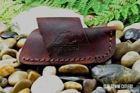 Leather Side Draw Slip-Joint Sheath Due South Knives