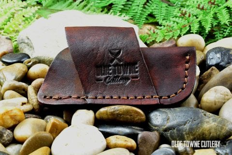 Leather Side Draw Slip-Joint Sheath - OTC Logo