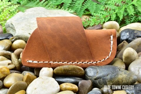 Leather Side Draw Slip-Joint Sheath - Plain